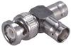 Coaxial T-adaptor, 1 Plug, 2 Jacks, Asymmetric -- Type 45_BNC-75-0-1/133_NE - 22541050