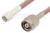 SMA Male to Reverse Polarity TNC Male Cable 12 Inch Length Using RG142 Coax -- PE34854-12 -Image