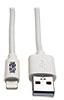 USB Sync/Charge Cable with Lightning Connector, White, 10 ft. (3 m) -- M100-010-WH