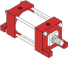 Series H Heavy Duty Hydraulic Cylinder - Model H21 NFPA Style MF5 -- Rod Square Flange Mounting - Image