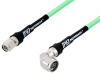 N Male Right Angle to TNC Male Low Loss Test Cable 200 cm Length Using PE-P300LL Coax -- PE3C3243-200CM -Image