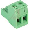Plug, Terminal Block; 12 A; 250 V; 5 mm;2 position, Screw, Pre-Printed -- 70055289
