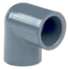 "1/2"" Gray Schedule 40 PVC 90° Socket Elbow -- 28395"