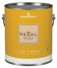 Exterior Paint,Flat,1 gal,Glass Slipper -- 22T279