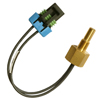500 Series immersion temperature probe, NTC, 15,000 Ohm, ±1,0 °C [1.8 °F] tolerance, 0 °C to 80 °C [32 °F to 176 °F] accuracy, brass, threaded body (1/8-27 NPT), lead wi -- 590-53CU05-153