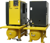 AIRCENTER Rotary Screw Compressor Package, Duplex Unit -- SK 20