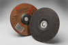 3M Aluminum Oxide Depressed-Center Wheel - 24 Grit Very Coarse Grade - 7 in Diameter - 7/8 in Center Hole - Thickness 1/4 in - 92313 -- 051135-92313 - Image