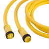 Mini-Link Cable Assembly, Rubber, Male/Female, 2 pole, 12', 16 AWG -- 102G0120A - Image