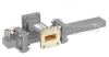 50 dB WR-112 Waveguide Crossguide Coupler with UG-51/U Square Cover Flange and N Female Coupled Port from 7.05 GHz to 10 GHz in Bronze -- FMWCT1095 -Image