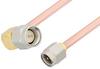SMA Male to SMA Male Right Angle Cable 24 Inch Length Using RG402 Coax, RoHS -- PE3821LF-24 -Image