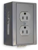 Din Rail Utility Box,15A,Duplex,Gray -- 1DNV4 - Image