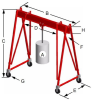 Tri-Adjustable Steel Portable Crane -- 5T19-M35