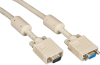 25FT VGA Video Cable with Ferrite Core, Beige, Male/Female -- EVNPS06-0025-MF -- View Larger Image