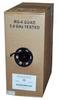 1000ft RG6 Quad Shield Coax Cable Black CMR -- 2028-SF-04 - Image