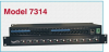 12-Channel Cat6 RJ45 ON/OFF Switch with Ethernet Remote Port, Independent Channel Control, 1U Rackmount -- Model 7314 -- View Larger Image