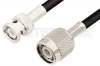 TNC Male to BNC Male Cable 60 Inch Length Using 93 Ohm RG62 Coax -- PE34508LF-60 -Image