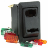 2 On-Off-On Rocker Switch, dependent and independent illumination -- 58328-103BP