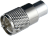 Connector, UHF Male, Bakelite Insulation, Silver Pin, Silver Plated Body, for TCC Cable Group B -- 17-06B-BSSN