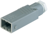 Rectangular Field Attachable Power Connector (ST Series): Male, straight with strain relief , 5-pin+PE, grey housing, 400 V AC/230 V DC, 10 A AC/6 A DC -- STAS 5 - Image