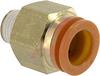 Connector, Pneumatics; 1/2 in.; 1/4 in.; 22.23 mm (Hex.); 9 mm (Min.); NTP; PVC -- 70070344