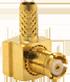 RP-MCX Male Right Angle Cable End Crimp -- CONREVMCX012 - Image