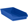 "23 5/8"" x 11 1/8"" x 4"" Blue - Plastic Shelf Bin Boxes -- BINPS124B -- View Larger Image"