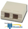 Allen Tel Versatap Duplex Surface Mount Faceplate -- AT33D - Image