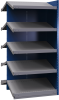 B-to-back closed shelving, sloped shelves (add-on unit for series) -- SRB2T-EE751001B - Image