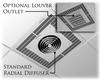 Ceiling Mount Fan Driven Heater -- P3482A1 - Image