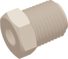 Commercial Grade Thread Reducing Straight Connector -- AP032518R1032N -- View Larger Image