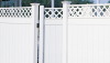 Vinyl Fence - Privacy -- Arlington with Lattice Accent