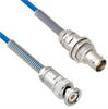 Plenum Cable Assembly TRB 3-Slot Plug to Non-Insulated Bulk Head 3-Lug Cable Jack with Bend Reliefs MIL-STD-1553 .150