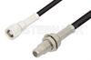 SMC Plug to SMC Jack Bulkhead Cable 12 Inch Length Using RG174 Coax -- PE33580-12 -Image