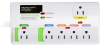 Monster Power 6-Outlet GreenPower Surge Protector with Phon -- 121602-00