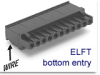 Pluggable Terminal Block -- ELFT Series Right Angle Plug -- View Larger Image