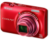 Nikon CoolPix S6300 Red 16mp 10x (25-250mm) Optical Zoom Digital Camera - 2.7in LCD Monitor - ISO 3200 -- 26335