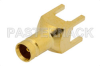 1.0/2.3 Jack Connector Solder Attachment Thru Hole PCB, .200 inch x .055 inch Hole Spacing -- PE44257 - Image