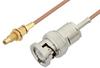 BNC Male to SSMC Jack Bulkhead Cable 6 Inch Length Using RG178 Coax -- PE3C4398-6 -Image