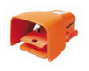 Heavy Duty Industrial Foot Switch Cast Metal, Alert Orange -- 78366721540-1 - Image