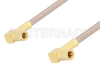 SSMB Plug Right Angle to SSMB Plug Right Angle Cable 24 Inch Length Using RG316 Coax, RoHS -- PE3157LF-24 -Image