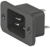 IEC Appliance Inlet C20, Screw-on Mounting, Front Side, Solder or Quick-connect Terminal, IP4 0 or IP 54 -- 4798 -Image