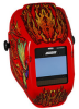 Jackson Safety Insight Halo X Flaming Butterfly Welding Helmet - Auto-Darkening Lens - 3.93 in Viewing Width - 2.36 in Viewing Height - 036000-46109 -- 036000-46109 -- View Larger Image