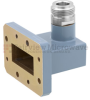 WR-112 to Type N Female Waveguide to Coax Adapter CMR-112 with 7.05 GHz to 10 GHz H Band in Aluminum, Paint -- FMWCA1043 - Image