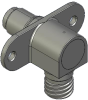 Honeywell Harsh Application Aerospace Proximity Sensor, HAPS Series, Right angle cylindrical flanged form factor, 2,50 mm/3,50 range, 3-wire current sinking output near/fault/far, D38999/25YA98PN term -- 1PRFD3AANN-000 -Image