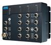 EN50155 Managed Ethernet Switch with 8FE+4GE, 24-110VDC