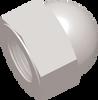 3/8-18 FNPT Commercial Grade Dome Nut, Natural -- AP030375CN - Image
