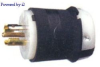 Locking Plug Black/White 20A 277/480V 3+Y 4P -- 78358503859-1 - Image