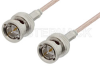75 Ohm BNC Male to 75 Ohm BNC Male Cable 72 Inch Length Using 75 Ohm RG179 Coax -- PE33401-72 -Image