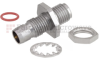 Bulkhead Slide-On BMA Plug to SMA Female (Jack) Adapter, Passivated Stainless Steel Body, High Temp, 1.25 VSWR -- FMAD1112 - Image