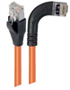Category 5E Shielded Right Angle Patch Cable, Right Angle /Straight, Orange 3.0 ft -- TRD815SRA7OR-3 -Image